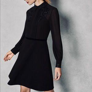 NWT Ted Baker Amaali lacy black dress - 12